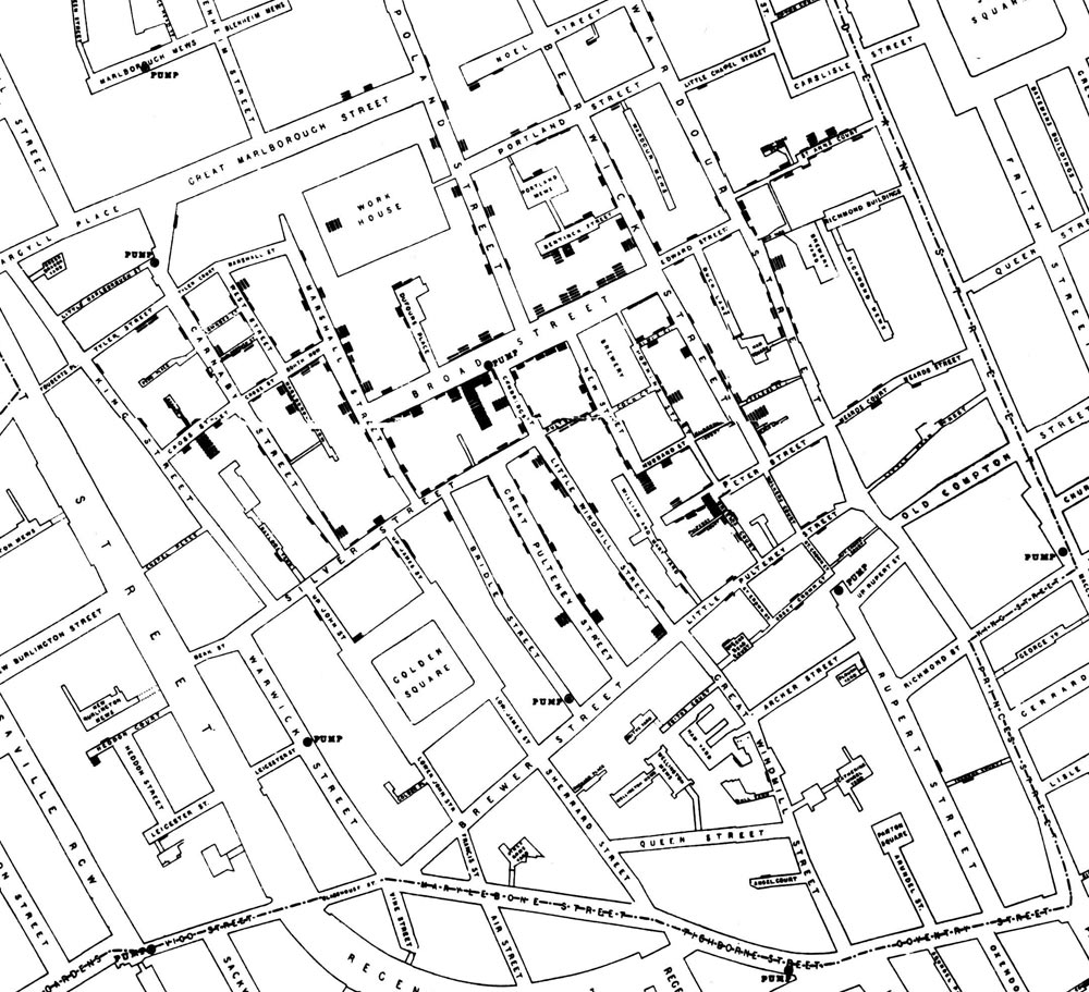 John Snow's cholera map of Soho